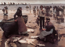 A_Fish_Sale_on_a_Cornish_Beach_stanhope_forbes