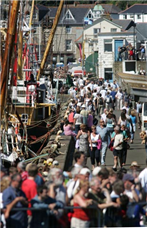 newlyn fish festival is held in the newlyn harbour on the august bank holiday