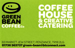 green bean business card contact
