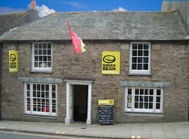 green bean coffee co penzance outside