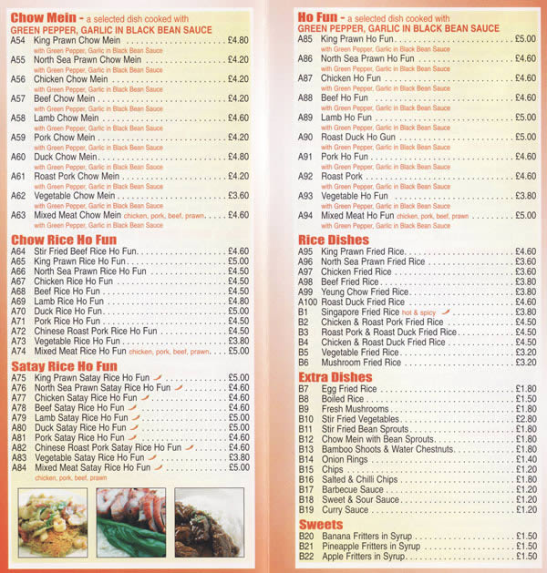 May S Chinese Restaurant And Takeaway Menu